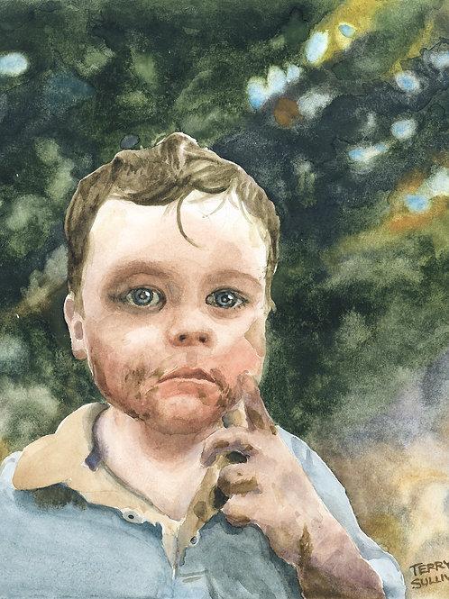 The Dirt Merchant Original Watercolor Painting