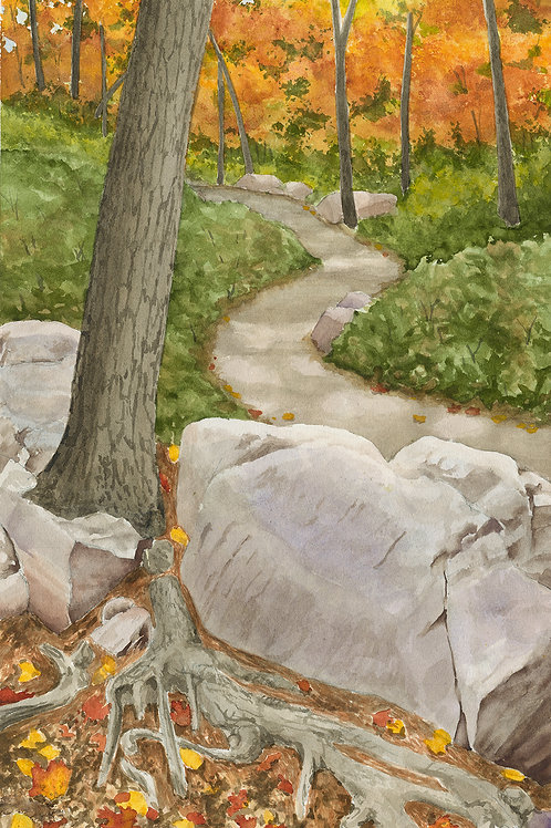 Devils Lake Fall (Limited Edition Giclée Print - Original Size)