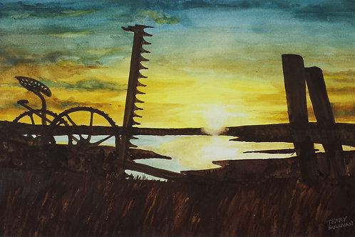 Goshen County Sunrise (Original Watercolor)