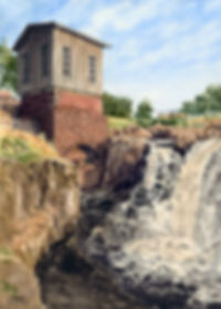 Scenic Sioux Falls Park watercolor original prints