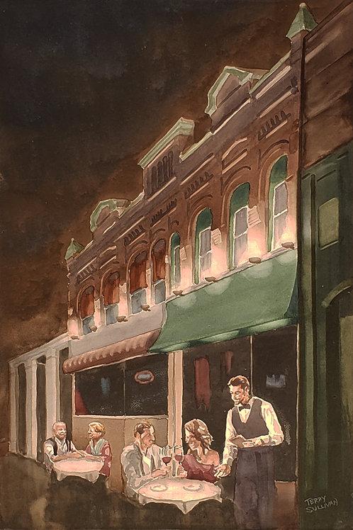 Date Night Original Watercolor