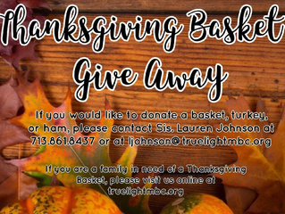 Thanksgiving Day Basket Give-Away