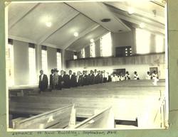 Entering New Building Sept.1964