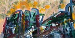 Cityscape (Acrylic on canvas 2016)