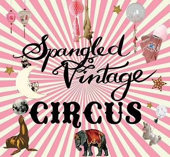 Spangled Vintage Circus Illustration, festival inspired jewellery universe, vintage inspired jewellery