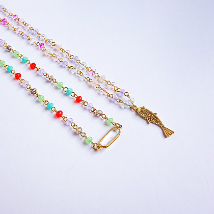 Short Charm Rosary Necklaces