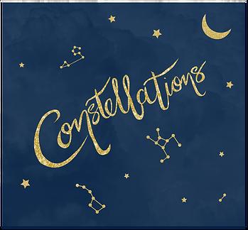 Constellations Illustration, gold celestial inspired jewellery universe, celestial gold jewellery, celestial fantasy