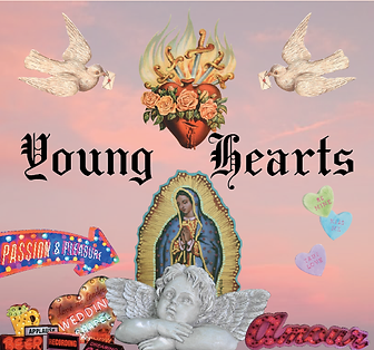 Young Hearts Illustration, Baz Luhrmann Romeo + Juliet inspired jewellery universe, young love, forbidden love