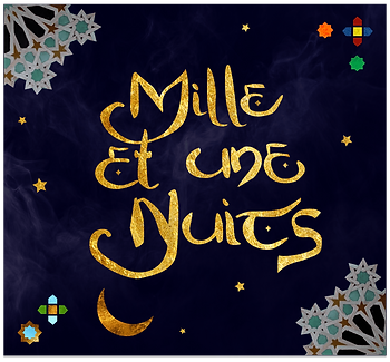 Mille et une nuits Illustration, One Thousand and one Nights Illustration, oriental inspired gold jewellery universe
