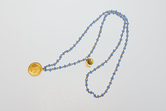 Long Handmade Rosary Charm necklaces