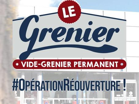 Les modalités de réouverture du Grenier pour les exposants en cours de location.