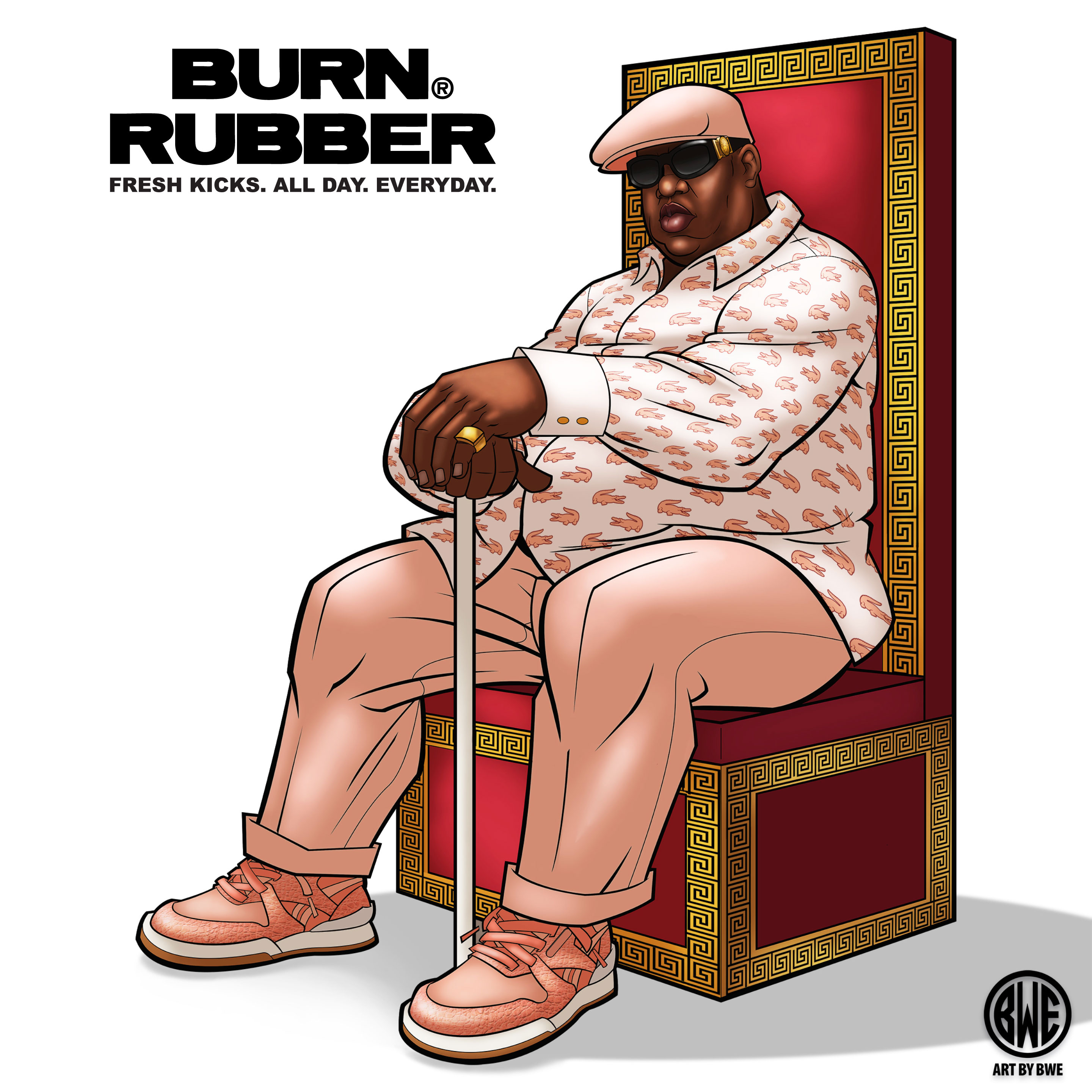Burn Rubber x Reebok Promo Art