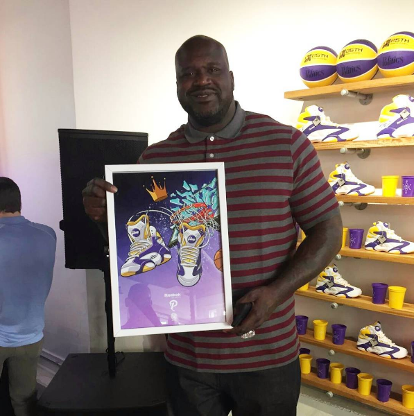 NBA AllStar Weekend 2017 Shaq Poster