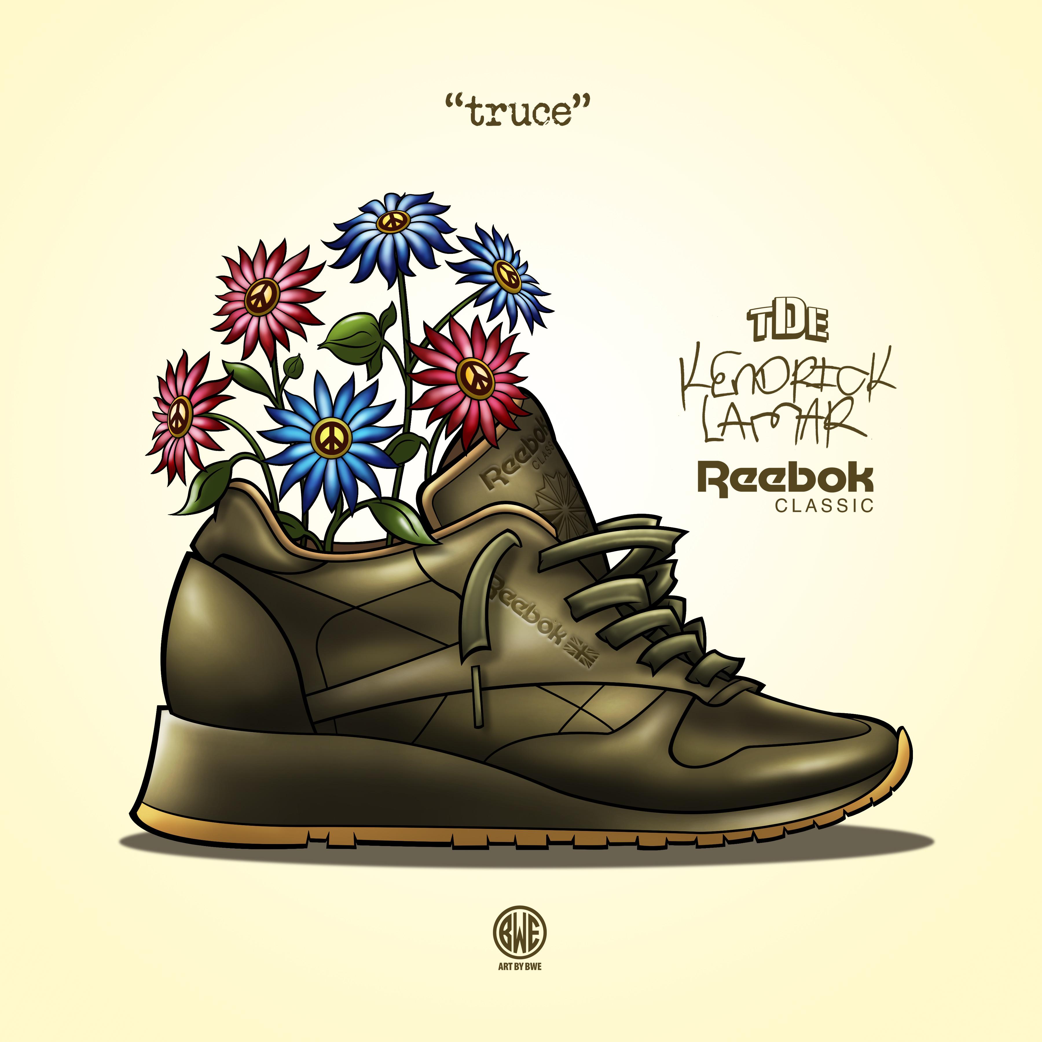 Reebok Kendrick lux  Promo Art