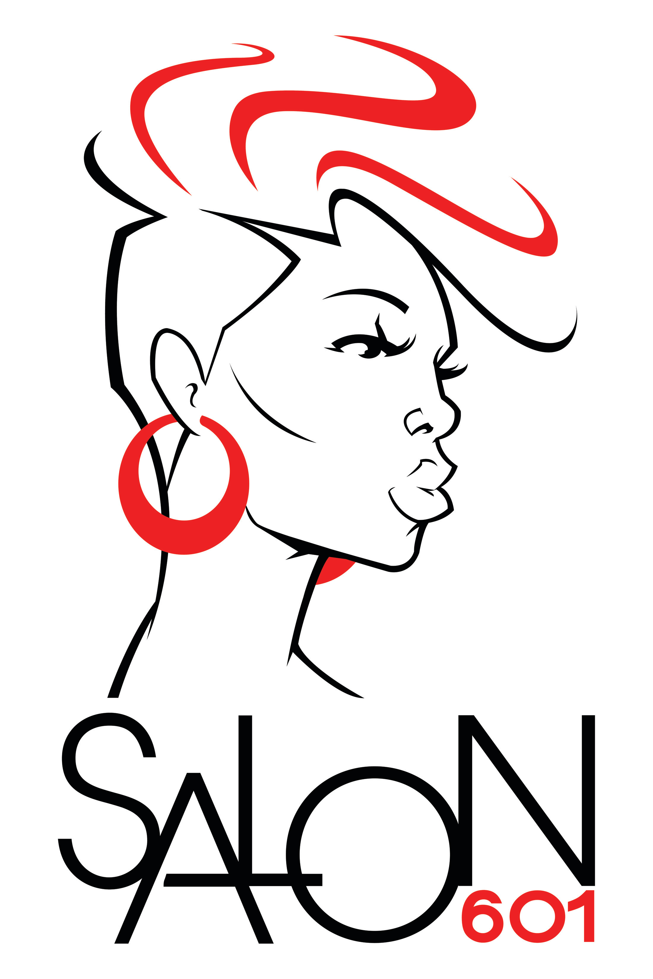 Salon 601 logo design