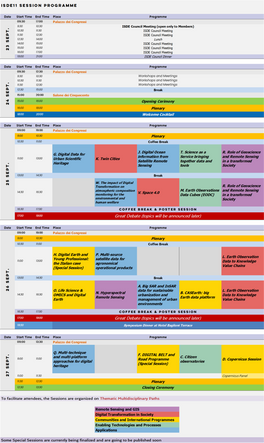 ISDE11 SESSION PROGRAMME AVAILABLE NOW!