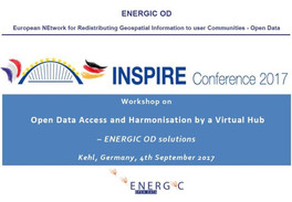 ENERGIC OD: Workshop on Open Data Access and Harmonisation by a Virtual Hub