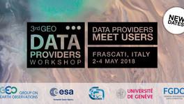 3rd GEO Data Providers Workshop - Frascati - The final agenda is online!