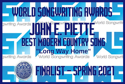 WORLD SONGWRITING AWARD!!