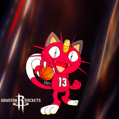 Meowth x Houston Rockets