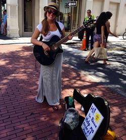 Busking on King Street, Charleston