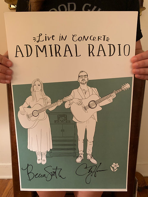 'Live in Concert' Signed Poster