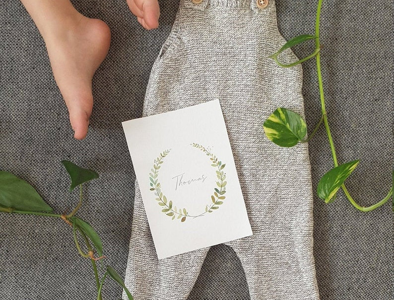 Signature Green Leaf Name Wreath