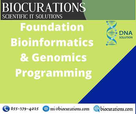 6 Months Online Live Training Foundation Bioinformatics | Genomics Programming