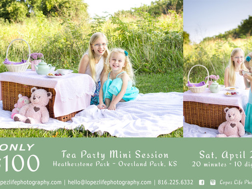 Spring Tea Party Mini Sessions - Overland Park Child Photographer