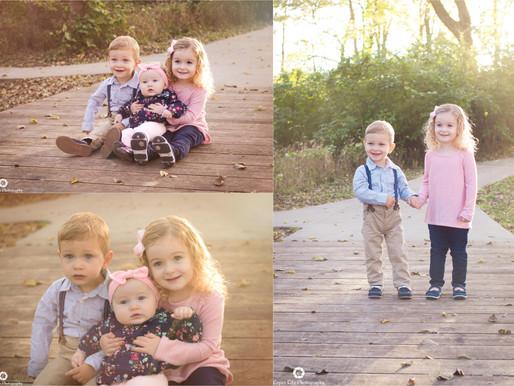 Three Kids Three and Under - Overland Park Family Photographer