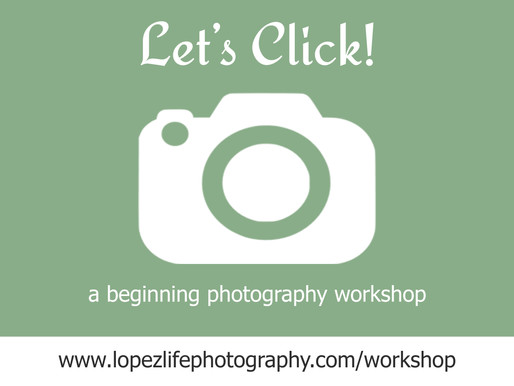 Let's Click! (mini) - Beginning Photography Workshop in Kansas City