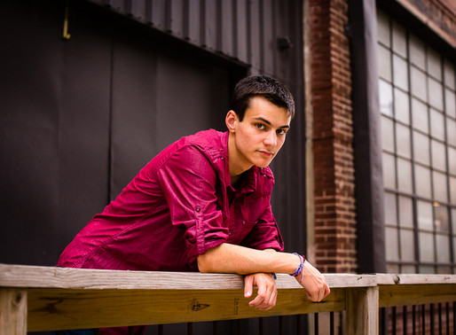 Senior Session in the West Bottoms - KC Photographer