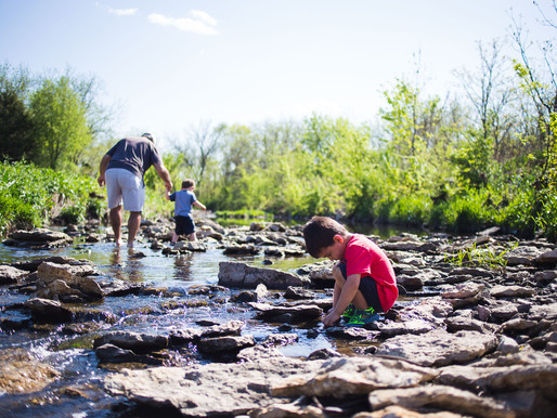 A Sunny Afternoon at the Creek - Olathe Family Photographer