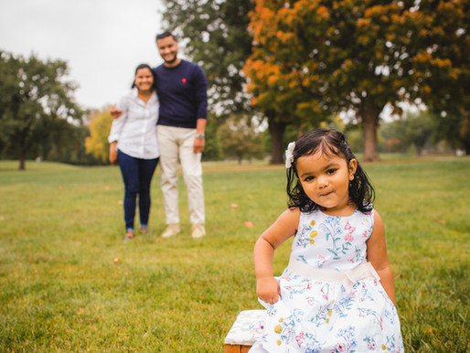 Meadowbrook Park with the Mehta Family - Overland Park Family Photographer