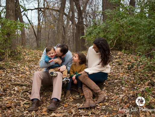 A Crisp Fall Evening at Leawood Park - Leawood Family Photographer