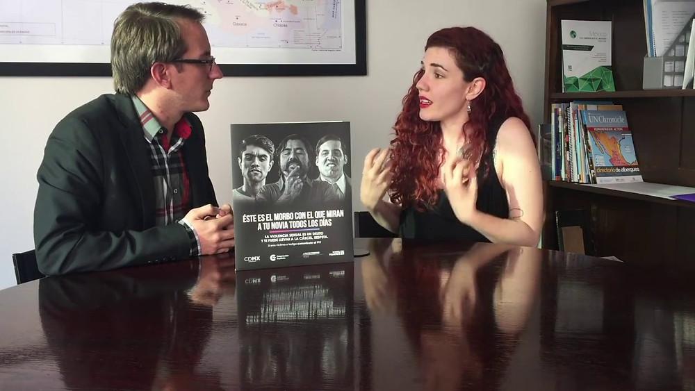La bloguera Tamara de Anda en entrevista con Naciones Unidas sobre el acoso sexual