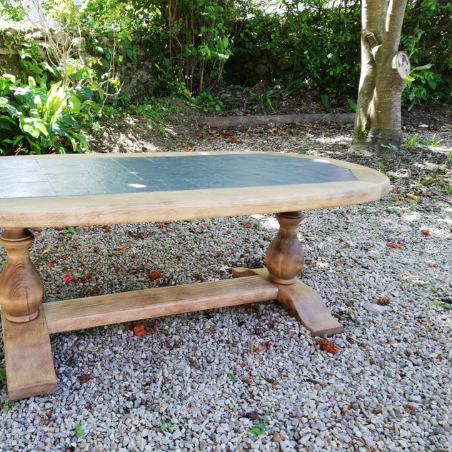Relooking table basse faience