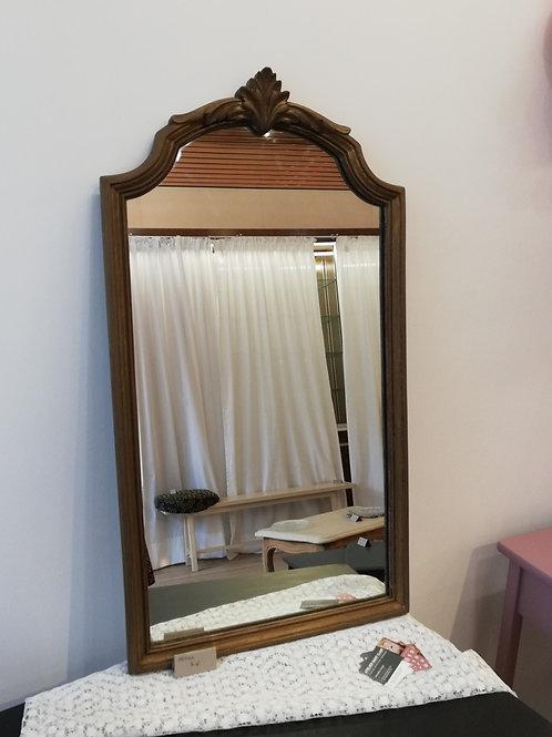 Miroir vintage patine bronze 44x81cm