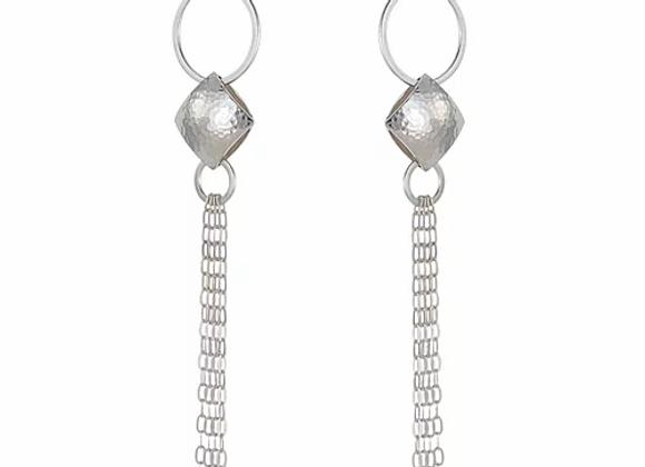 Pillow tassle drop earrings