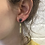 Thumbnail: Folded Stud with Brass Drop Earrings