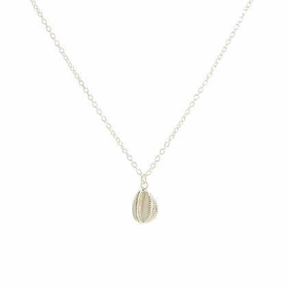 Cowrie necklace, Silver