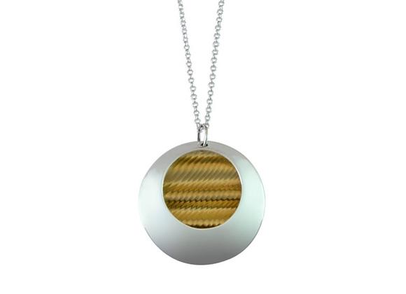 Circular Pebble Pendant