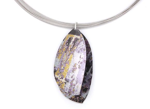Large Double Leaf Necklace, Lavender