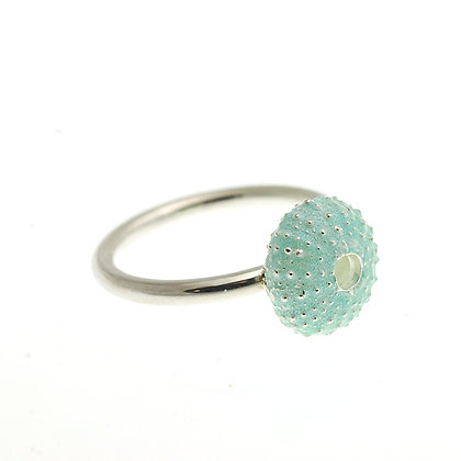 Urchin Ring, Blue Enamel
