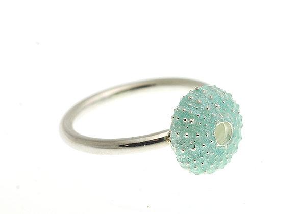 Urchin Ring, Blue Enamel