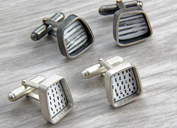 Square Inset Cufflinks