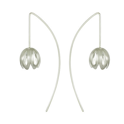 Outline Crocus Long Wire Earrings