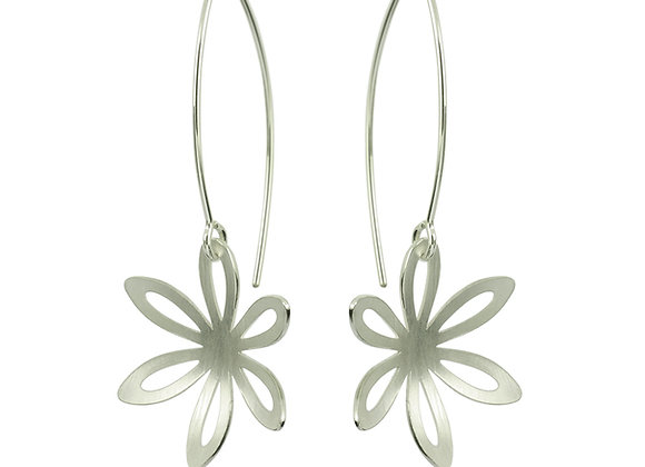 Outline Fritillaria Side Hanging Earrings