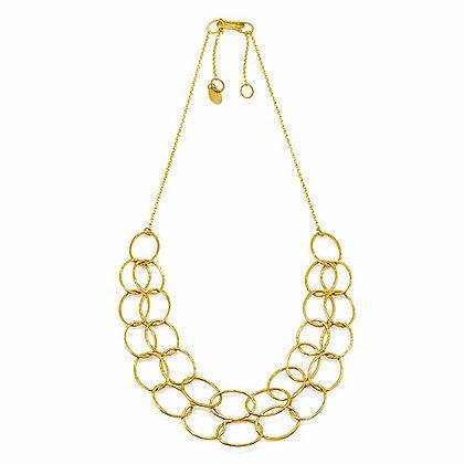 Double Layer Cascade Necklace, GP