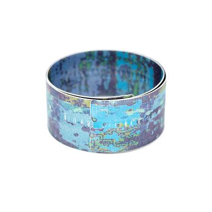 3cm Spiral Bangle, Blue
